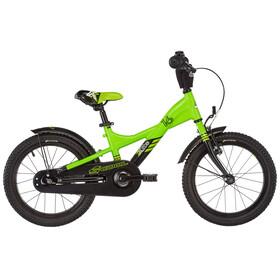 s'cool XXlite 16 Barnesykkel alloy Grønn